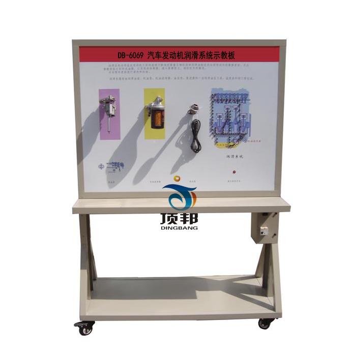 汽车发动机润滑系统示教板高清图片
