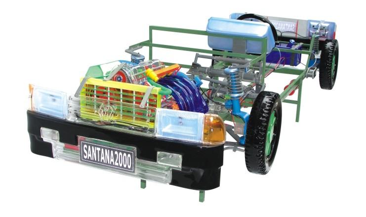 桑塔纳2000透明整车教学模型